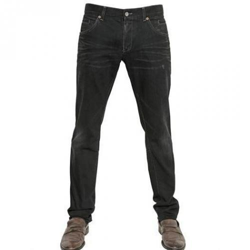 Dolce & Gabbana - 19Cm Whiskered Denim 14 Gold Jeans