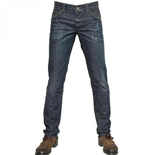 Dolce & Gabbana - 19Cm Zerknitterter Effekt 14 Gold Jeans