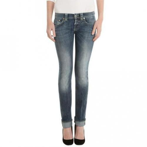 Dondup - Hüftjeans Modell Music Wise Blue Alleycats Farbe Blaue Waschung