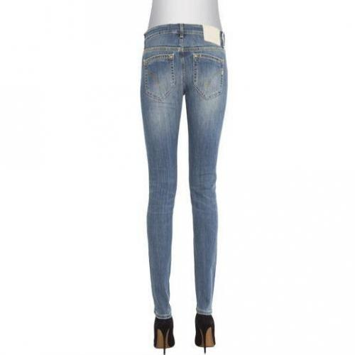 Dondup - Skinny Modell Longleg Wise Blue Easyaces Farbe Blaue Waschung