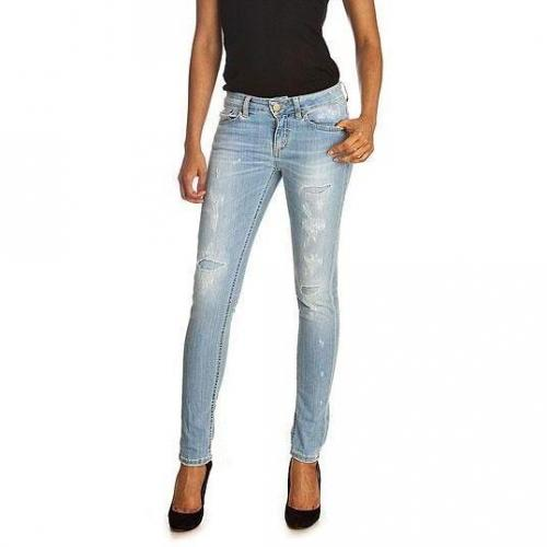 Dondup - Skinny Modell Longleg Wise Blue Press Farbe Helle Waschung