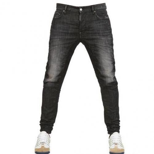 dsquared 16 5cm biker schwarze nacht denim jeans. Black Bedroom Furniture Sets. Home Design Ideas