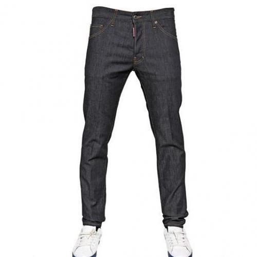 Dsquared - 16,5Cm Cool Guy Raw Stretch Denim Jeans