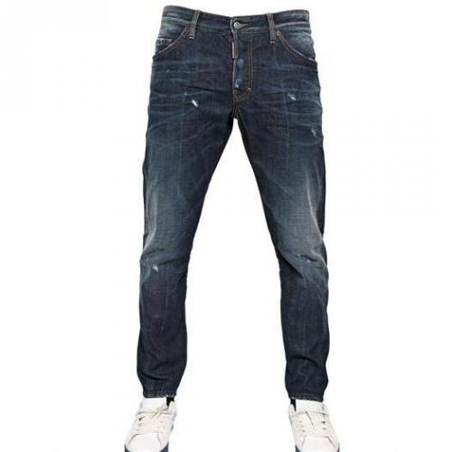 Dsquared - 16.5Cm Everywhere Wash Kenny Twist Jeans
