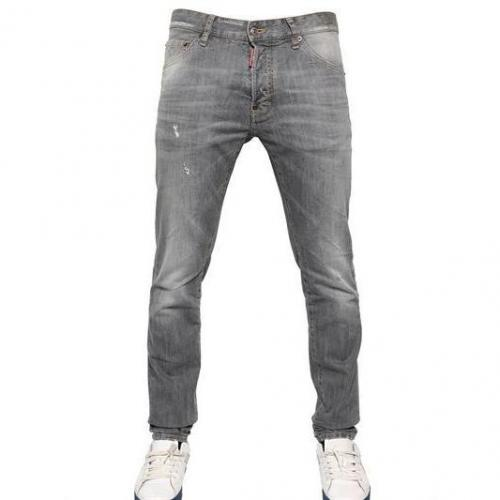Dsquared - 16.5Cm Grey Wash Cool Guy Stretch Jeans