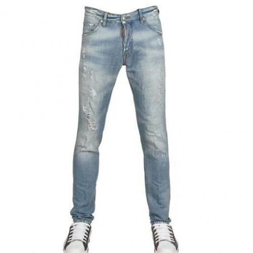 Dsquared - 16,5Cm Leinen Blend Denim Cool Guy Jeans