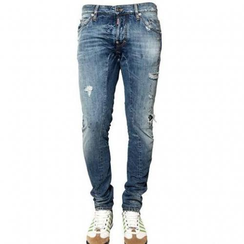 Dsquared - 16,5Cm New Twist Ripped Denim Jeans
