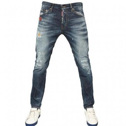 Dsquared - 16,5Cm Ocra Rip Cool Guy Denim Jeans