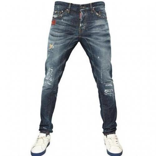 Dsquared - 16,5Cm Ocra Rip New Twist Denim Jeans