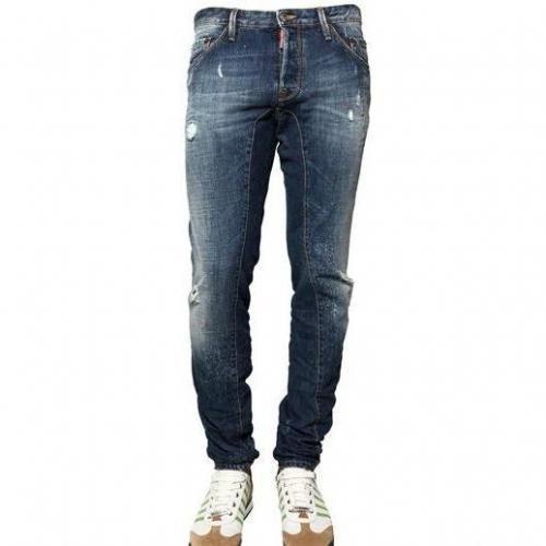Dsquared - 16,5Cm Paint Spots New Twist Denim Jeans
