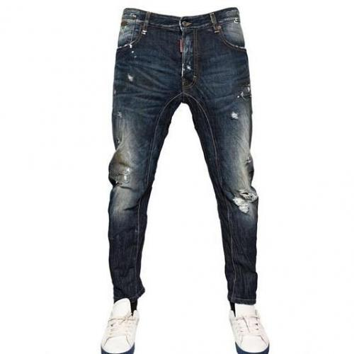 Dsquared - 17Cm Revolution Wash Biker Fit Denim