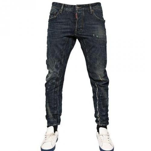 Dsquared - 17Cm Scarface Wash Biker Fit Jeans