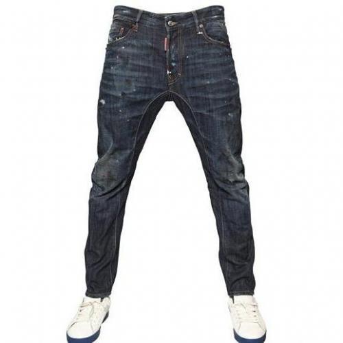 Dsquared - 17Cm Schwarzer Schatten Biker Denim Jeans
