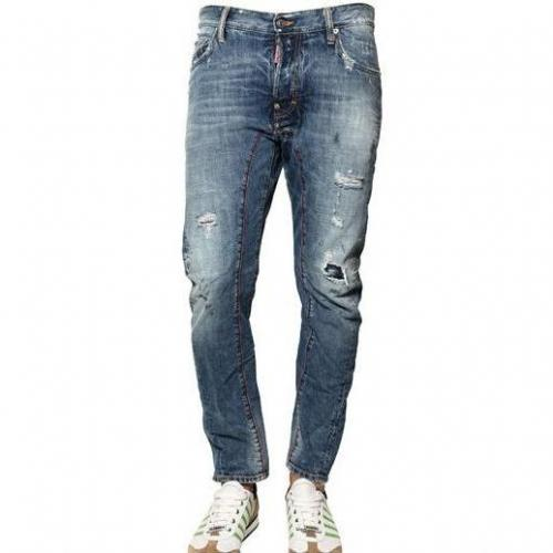 Dsquared - 18Cm Biker Fit Ripped Denim Jeans