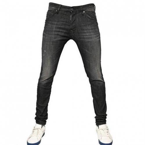 Dsquared - 18Cm Slim Fit Schwarze Nacht Denim Jeans