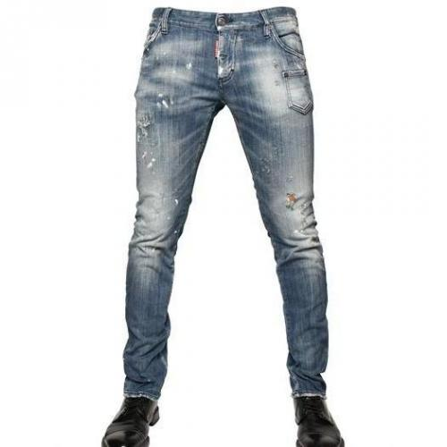 Dsquared - 19Cm Brushed Denim Slim Fit Jeans
