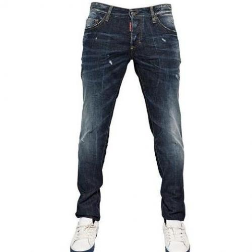 Dsquared - 19Cm Everywhere Wash Slim Denim Jeans