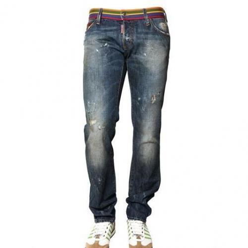 Dsquared - 19Cm Multi Color Waist Slim Fit Jeans
