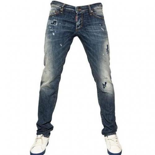 Dsquared - 19Cm Patch Of Blue Slim Denim Jeans