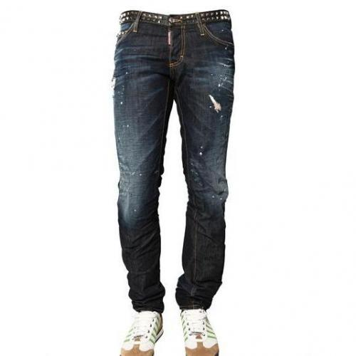 Dsquared - 19Cm Studded Denim Slim Fit Jeans
