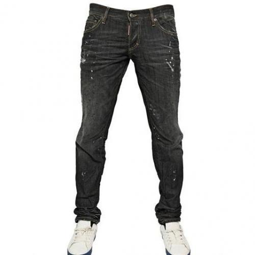Dsquared - 19Cm White Piranha Slim Fit Denim Jeans