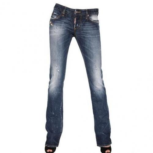 Dsquared - Boot Cut Washed Denim Jeans