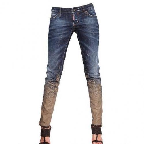 Dsquared - Lehm Effekt Super Enge Denim Jeans