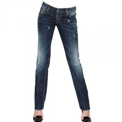 Dsquared - Slim Washed Baumwoll Denim Jeans
