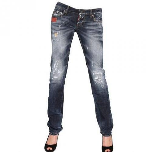 Dsquared - Slim Washed Destroyed Denim Jeans