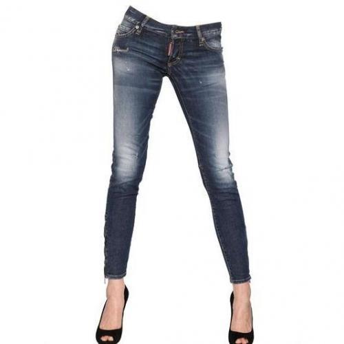 Dsquared - Super Slim Washed Stretch Denim Jeans
