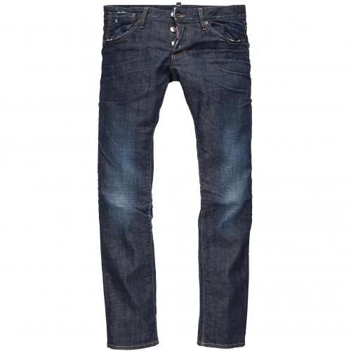 Dsquared2 Herren Jeans Slim Jean Dunkelblau Used