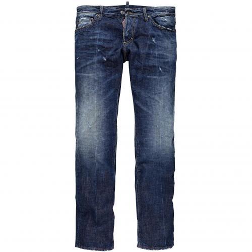 Dsquared2 Herren Jeans Slim Jean Mid Blue Used