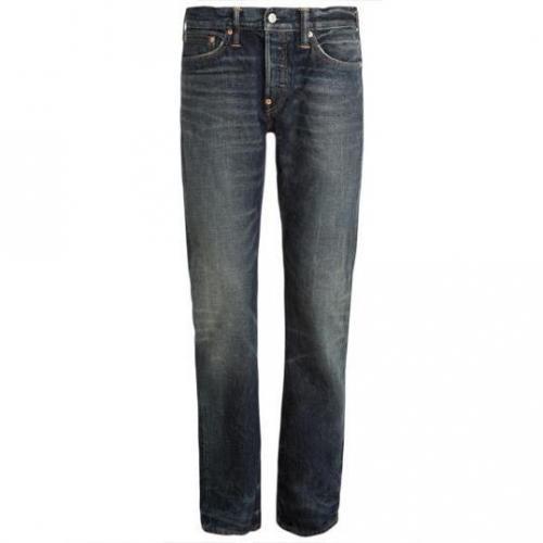 Evisu - Hüftjeans Evisu Wink Straight Leg Dirty Dozen Wash Jeans Blaue W
