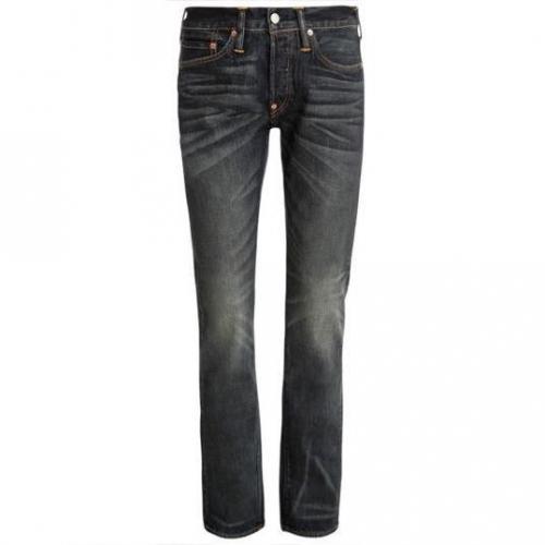 Evisu - Hüftjeans Straight Leg Cooks Wash jeans Blaue Waschung