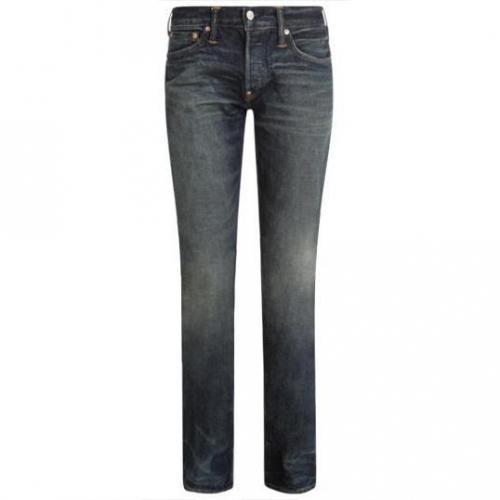 Evisu - Hüftjeans Straight leg Dirty Dozen Wash Jeans Blaue Waschung