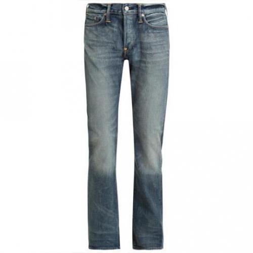 Evisu - Hüftjeans Straight Leg Lake Wash Blaue Waschung