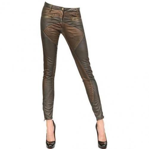 Faith Connexion Gewachste Stretch Baumwoll Denim Biker Jeans