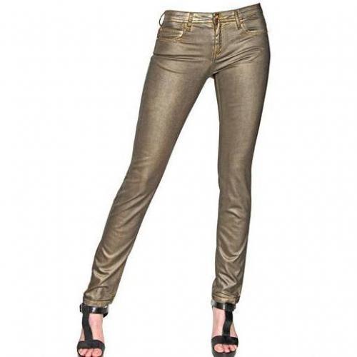Faith Connexion - Gewachste Stretch Baumwoll Denim Jeans Gold