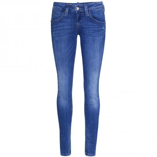 Fornarina Damen Jeans Blanca Up-Stretch Denim Blue