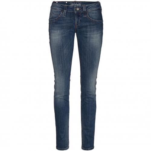 Fornarina Damen Jeans Blanca Up-Stretch Denim Blue Washed