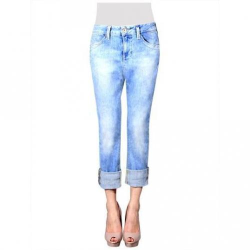 Fornarina - Skinny Modell Blanca Boy Vintage Blue Farbe Helle Waschung