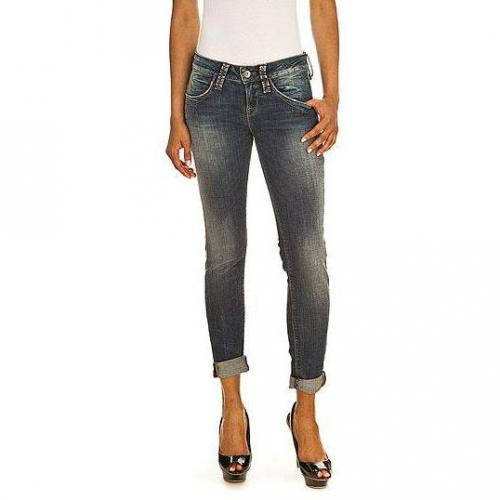 Fornarina - Skinny Modell Blanca up stretch denim pant BX Farbe Blaue Waschung