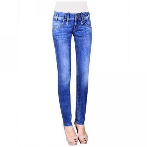 Fornarina - Slim Modell Kitty Soft Farbe Blaue Waschung