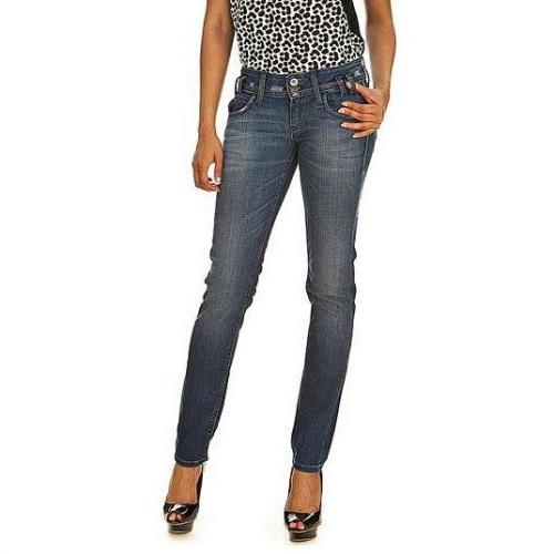 Fornarina - Slim Modell New Kitty stretch denim pant ND Farbe Blaue Waschung