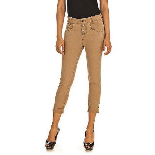 Fornarina - Slim Modell Sampey soft camel stretch denim pant Farbe Kamel