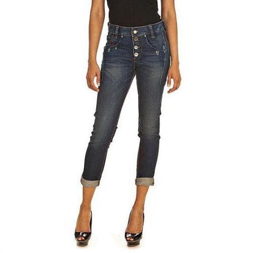 Fornarina - Slim Modell Sampey stretch denim pant K9 Farbe Blaue Waschung