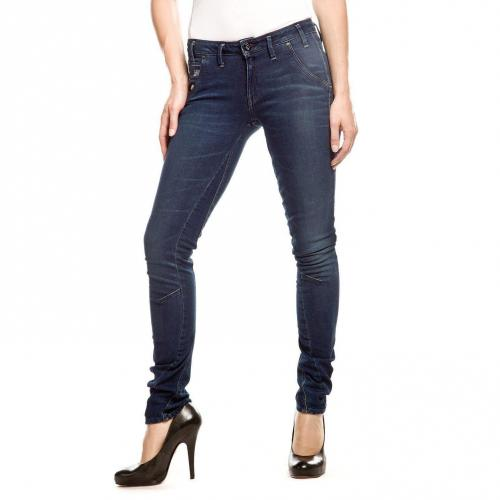 G-Star Arc Navy 3D Jeans Skinny Stone Used Überlänge 36