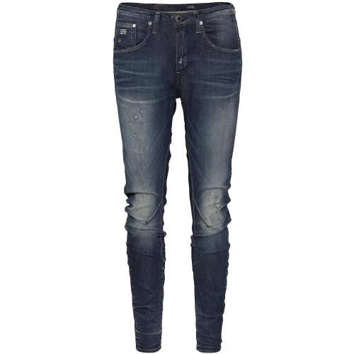 G-Star Damen Jeans Arc 3D Tapered Medium Aged Destroy