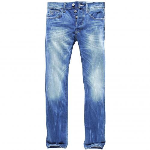G-Star Herren Jeans 3301 Slim Rugby Wash