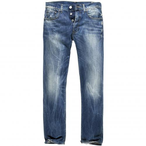 G-Star Herren Jeans 3301 Straight Rugby Wash